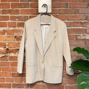 Jackets & Blazers - Beige Gingham Blazer